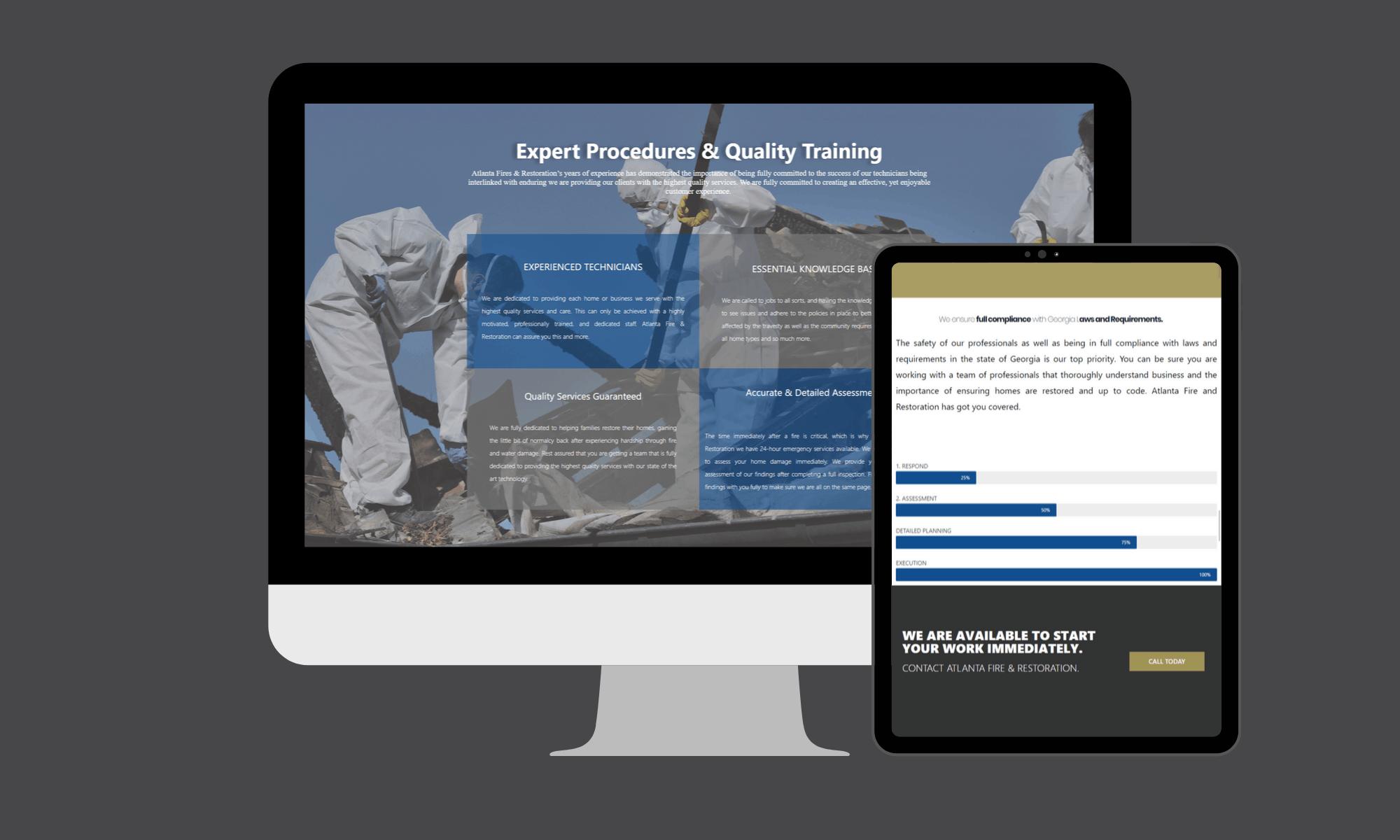 Modern Day Digital provided this sleek web design for an Atlanta based company.