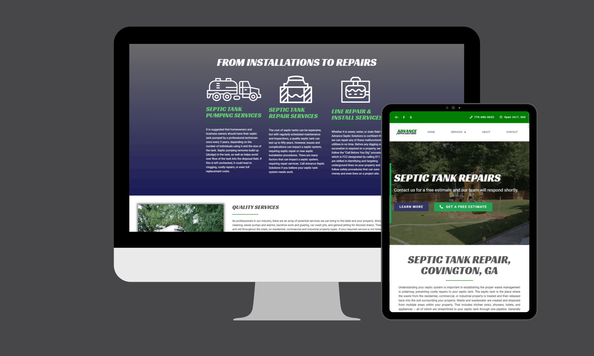 Modern Day Digital provided a web design and pay-per-click campaign that has caused this Georgia based business to explode in growth.