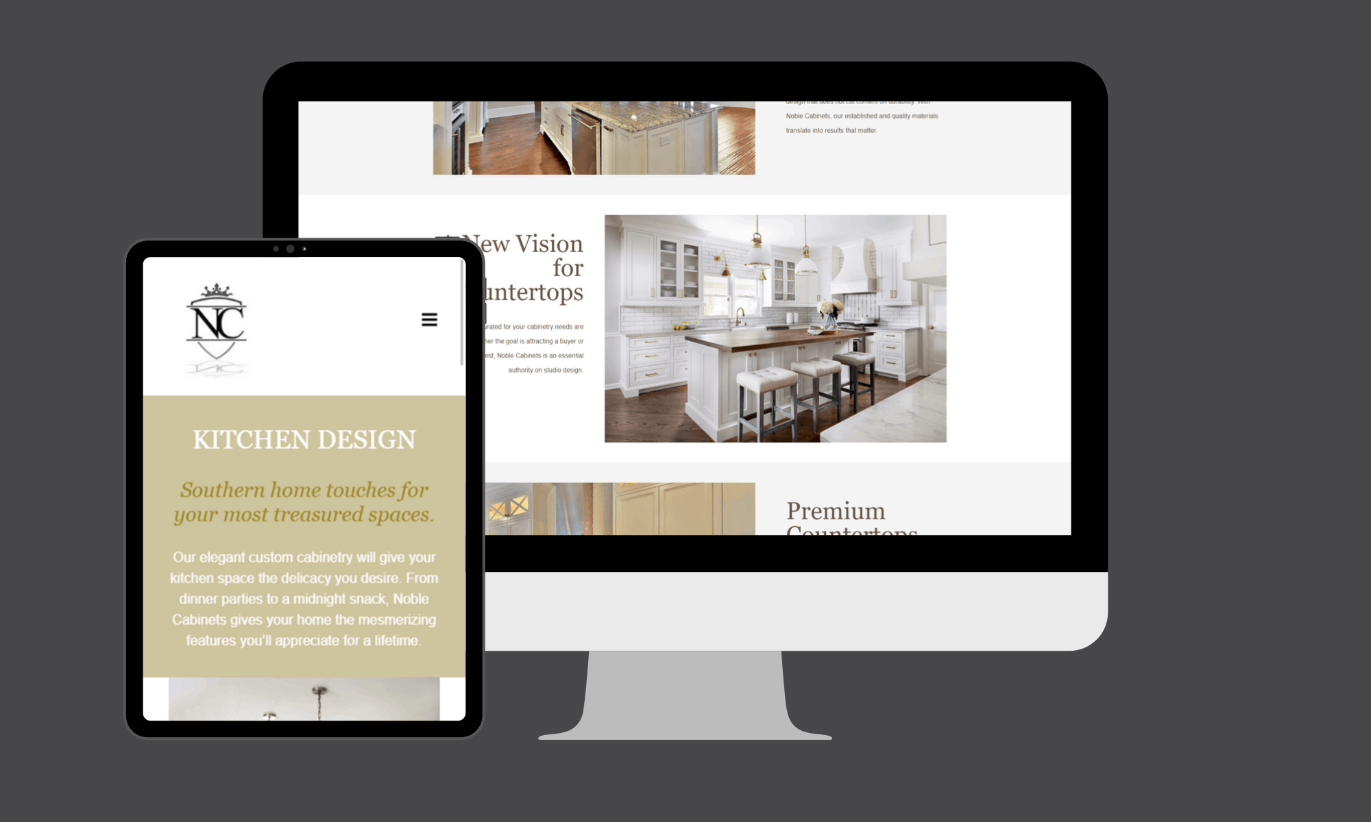 Modern Day Digital provided the web design and search engine optimization services for this custom cabinet company.